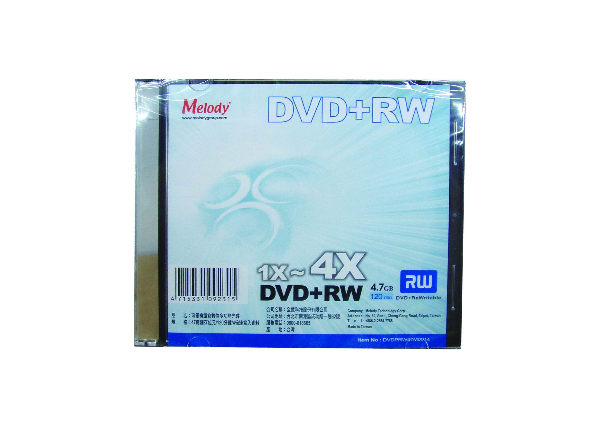 Melody DVD+RW 4X 單片裝