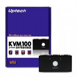KVM100 2PORT迷你電腦切換器