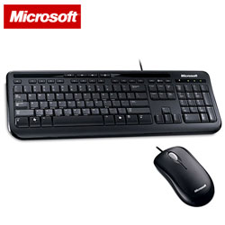 Microsoft 微軟 600 滑鼠鍵盤組 黑