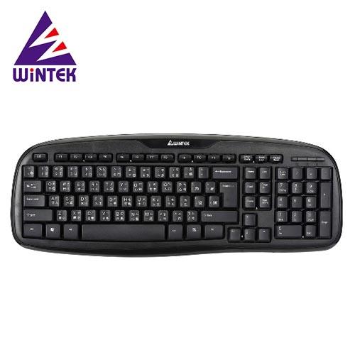 WiNTEK 文鎧 黑武士防水鍵盤 WK160 黑USB