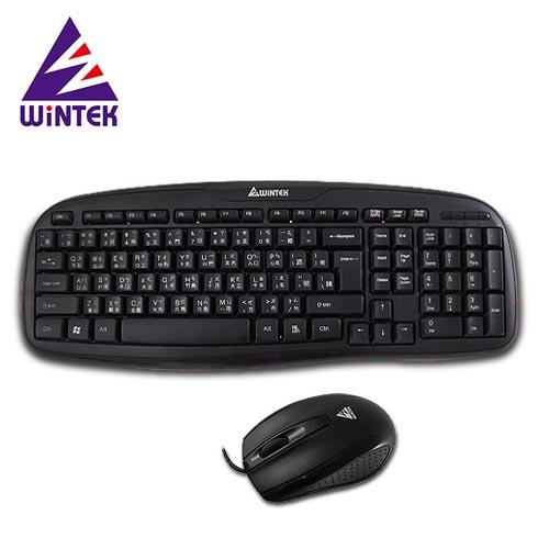 WINTEK 文鎧 WM700 黑武士USB光學鍵鼠組