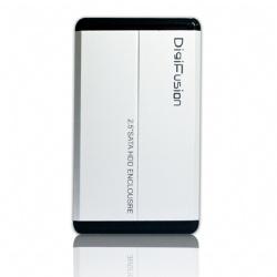 伽利略2.5吋SATA硬碟外接盒-銀