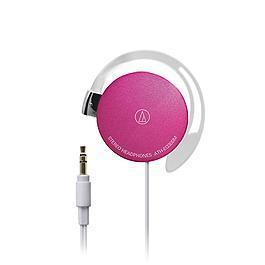 鐵三角 ATH-EQ300M 輕量薄型耳掛式耳機 粉