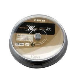 RITEK 8X DVD+R DL(10入)布丁桶