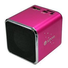 KINYO MPS-372 音樂盒讀卡喇叭 粉紅