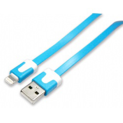 IP5雙色炫彩超薄傳輸充電線 藍1M