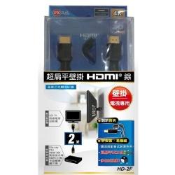 大通超扁平壁掛HDMI線 2M