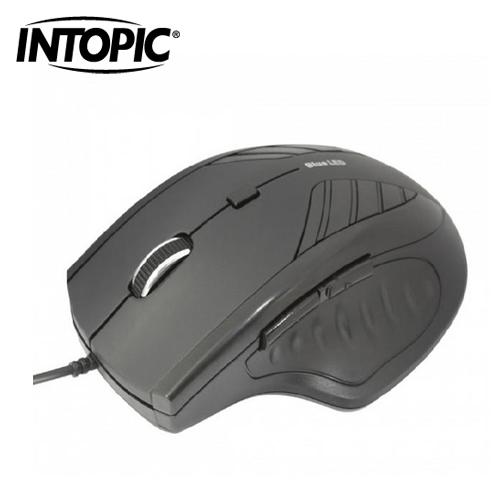 INTOPIC 廣鼎 飛碟藍光滑鼠 MS-BL072 黑
