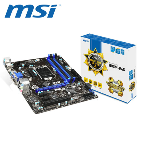 msi 微星 B85M-E45 主機板