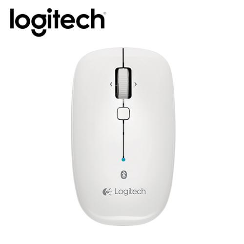 Logitech 羅技 M557 藍牙滑鼠 珍珠白
