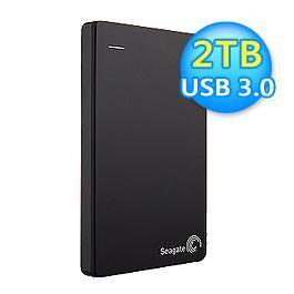 Seagate 希捷 Backup Plus Slim 2TB 外接式硬碟 黑