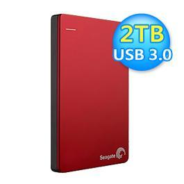 Seagate 希捷 Backup Plus Slim 2TB 外接式硬碟 紅