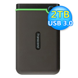 創見 StoreJet 25M3 2TB 軍規外接硬碟