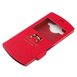 美圖手機2 專用皮套 桃紅
