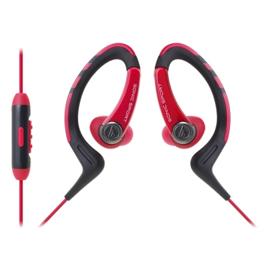 鐵三角 ATH-SPORT1iS 防水運動型 耳掛式耳機 紅