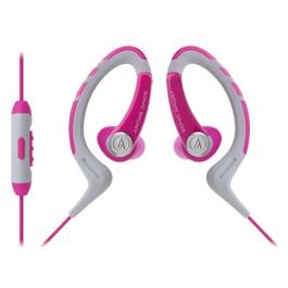 鐵三角 ATH-SPORT1iS 防水運動型 耳掛式耳機 粉