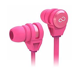 富士通 智慧型手機專用入耳式耳麥 粉