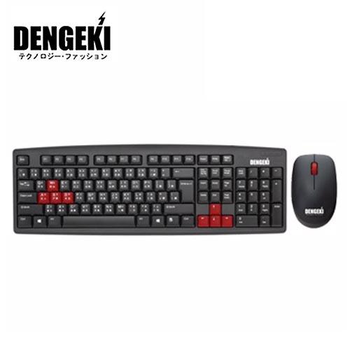 電擊 DENGEKI 有線USB鍵盤滑鼠組 KBM-0614