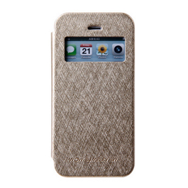 MERCURY iphone 6 开窗侧翻皮套 金