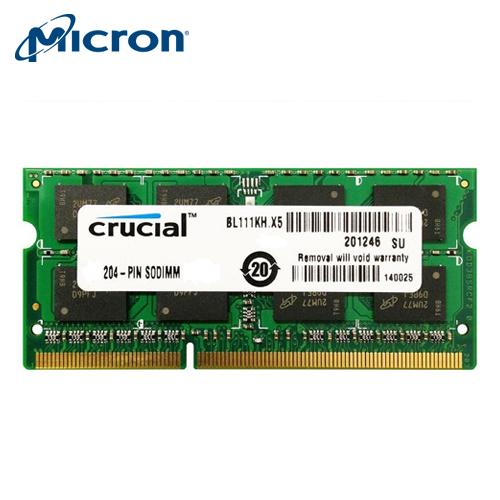 美光 DDR3 1600 8G NB用雙電壓【展示良品】