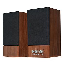 JS 淇譽 JY2039 木匠之音 2.0聲道二件式多媒體喇叭 核桃木
