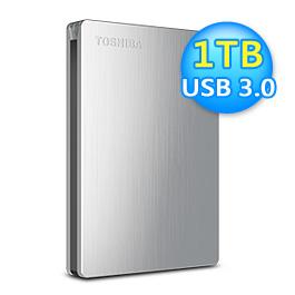 Toshiba 東芝 Canvio Slim 1TB 2.5吋外接硬碟 銀