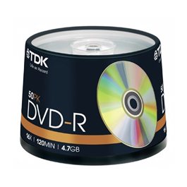 TDK GOLD 16X DVD-R 4.7GB 50入