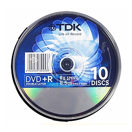 TDK DVD+R DOUBLE LAYER 8X 8.5G 10入