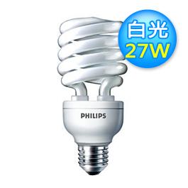 飛利浦 27W 螺旋燈泡 白光【展示良品】