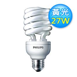 飛利浦 27W 螺旋燈泡 黃光