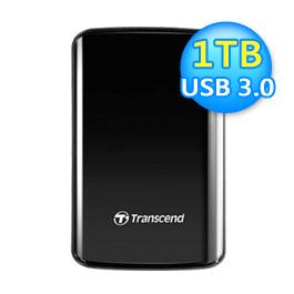 創見 SJ25D3 1TB 外接硬碟 USB3.0 黑