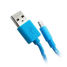 i-gota 彩色編網線 可升級IP5S/5C 藍 1米