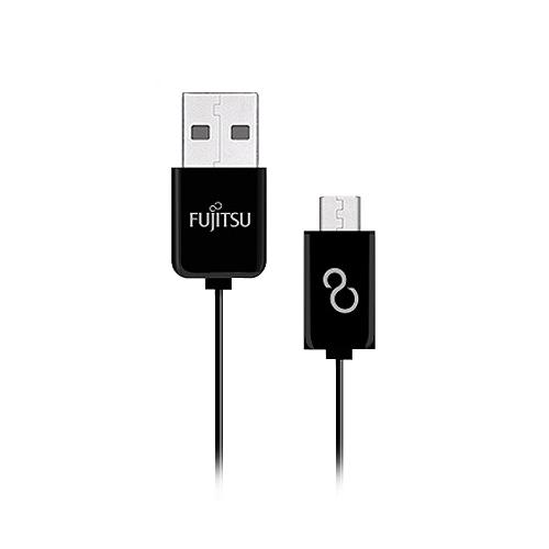 FUJITSU 富士通 MICRO USB傳輸充電線 1M 黑