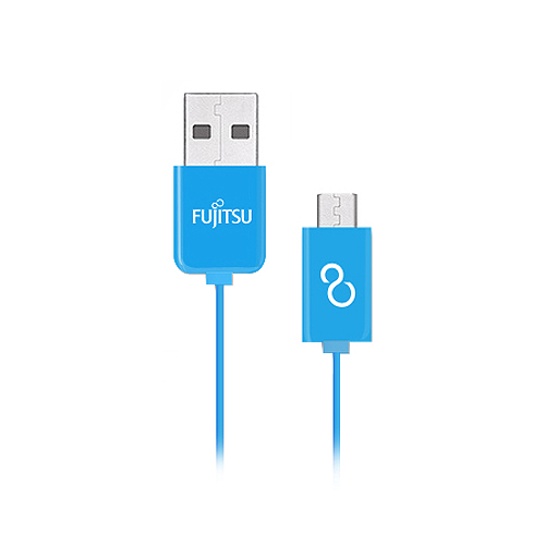 FUJITSU 富士通 MICRO USB傳輸充電線 1M 藍