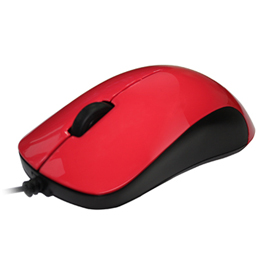 FUJITSU 富士通 USB有線滑鼠 QH300 紅