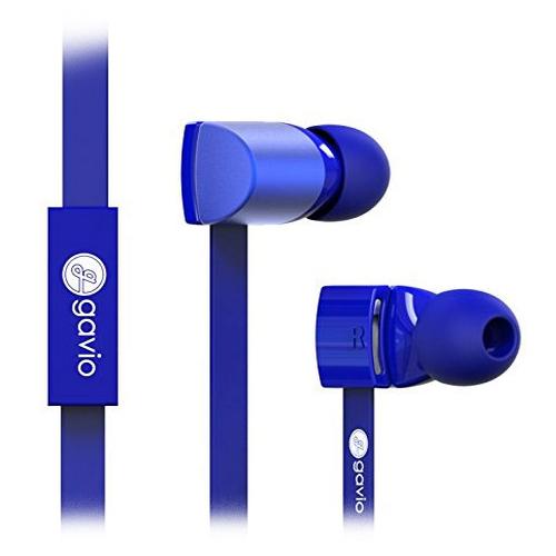 Gavio NEW GAZZ 扁線耳機麥克風 寶石藍