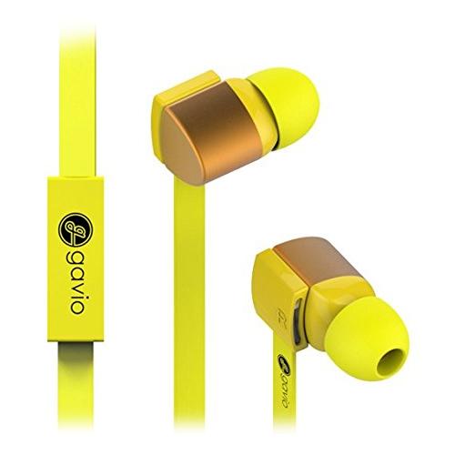 Gavio NEW GAZZ 扁線耳機麥克風 活力黃