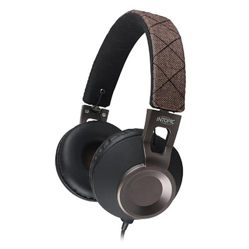 廣鼎 JAZZ-M360 摺疊音樂耳機麥克風 摩卡棕