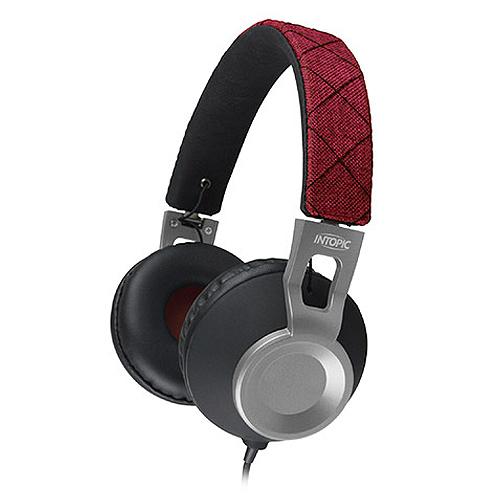 廣鼎 JAZZ-M360 摺疊音樂耳機麥克風 寶石紅