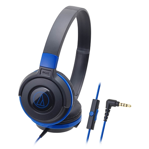 鐵三角 ATH-S100iS 耳罩式耳麥 藍