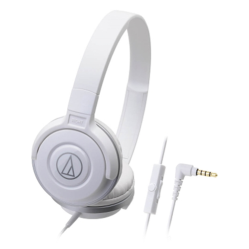 鐵三角 ATH-S100iS 耳罩式耳麥 白