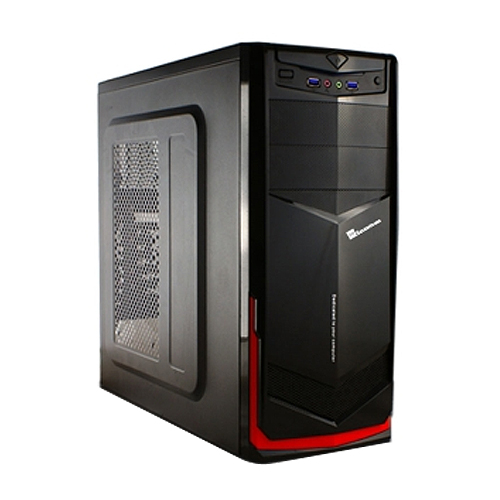 七盟 魔劍 ST~800 電腦機殼 黑紅