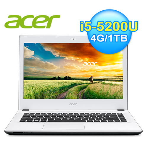 acer 宏 E5-473G-50E3 14吋筆電 白