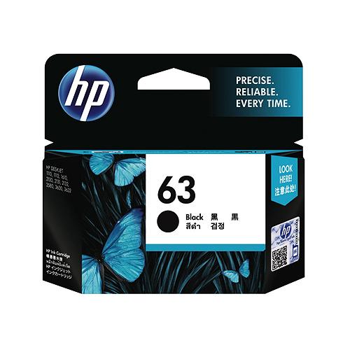 HP F6U62AA(NO.63) 黑色墨水匣