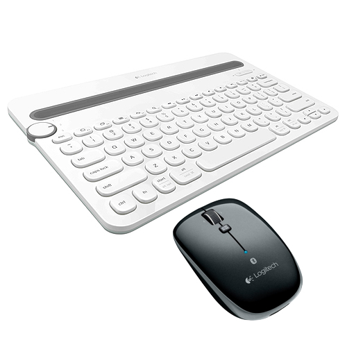 羅技 K480 藍牙鍵盤 白   M557 藍牙滑鼠 黑