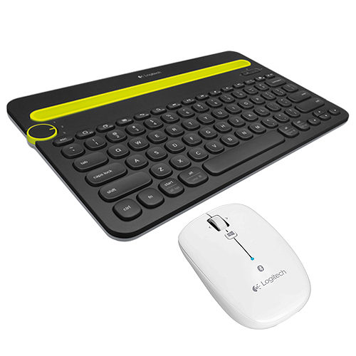 羅技 K480 藍牙鍵盤 黑   M557 藍牙滑鼠 白