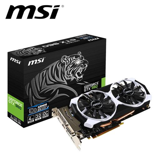 msi 微星 GTX 960 4GD5T OC DDR5 鎧甲虎 顯示卡