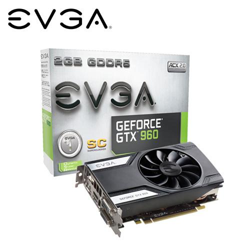 EVGA GTX 960 2GB SC ACX2.0顯卡