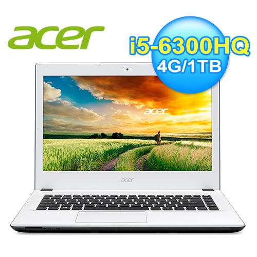 宏 E5-491G-5424 六代白色筆電