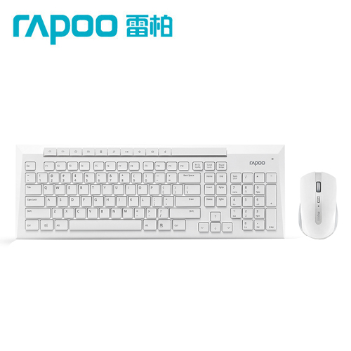 Rapoo 雷柏8200P 5G無線光學鍵鼠組-白